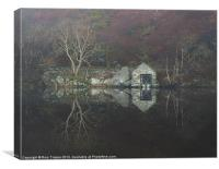 Boat house, Canvas Print