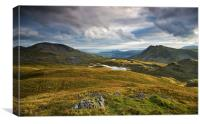 View from Moel Druman, Canvas Print