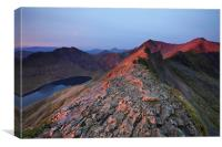 Crib Goch, Canvas Print