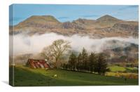 The Moelwyn range from the Bwlch road, Canvas Print