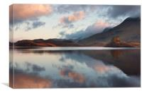 Cregennen lakes with Cader Idris, Canvas Print