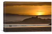 Criccieth sunset, Canvas Print