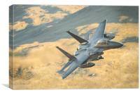 F15-Strike Eagle LL in Wales, Canvas Print