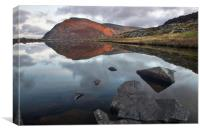 Pen yr Ole Wen reflected in Llyn Bochlwyd, Canvas Print