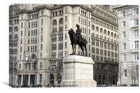 Edward V11, Liverpool, Canvas Print