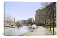 Canalside Living, Canvas Print
