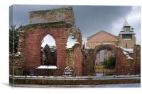 Ruined Remains, Chester, Canvas Print