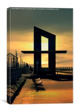 Optical Illusion, Blackpool, Canvas Print