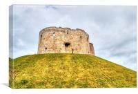 Cliffords Tower, York, Canvas Print