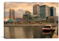 Dusk at Media City, Canvas Print