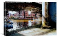 Viaduct at Castlefield., Canvas Print