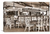 Empty Tables, Empty Chairs, Canvas Print