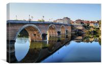 Reflections on the Dordogne, Canvas Print