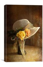 If you can't get ahead get a hat ., Canvas Print