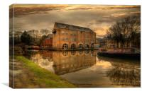 Dusk along the Rochdale canal, Canvas Print