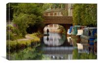 The Rochdale Canal , Yorkshire, Canvas Print