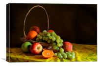 Still life with fruit , Canvas Print