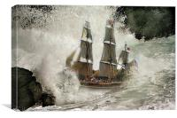 Tall Ship ., Canvas Print
