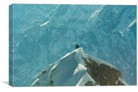Climbers on the Zugspitze mountain in Germany, Canvas Print