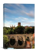 Elvet Bridge in Early Morning Light, Canvas Print