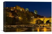 Durham at night, Canvas Print