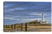 St Marys at low tide, Canvas Print