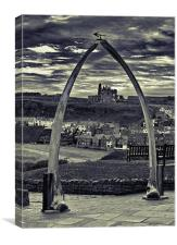 The Whale Jaw Bone Arch, Canvas Print