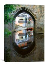 elvet bridge reflection, Canvas Print