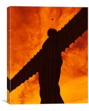 feathered angel of the north, Canvas Print