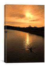 row with a glow, Canvas Print