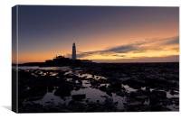 St Marry`s Lighthouse, Canvas Print