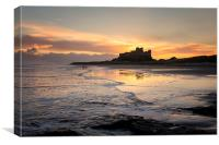 Bamburgh Castle Sunrise, Canvas Print