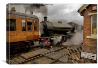 On the Level Crossing, Canvas Print