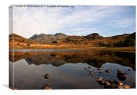 Peaceful Waters in the Lake District, Canvas Print