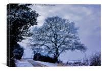A Country Road in Winter, Canvas Print