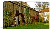 Old Cottages in Romaldkirk, Canvas Print