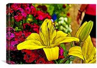 Yellow Lily's, Canvas Print