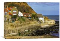 Cottages by the Sea, Canvas Print