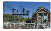 Grosmont Crossing, Canvas Print