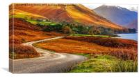 The Road to Wasdale Lake District, Canvas Print