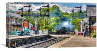 Grosmont railway station, Canvas Print