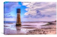 Old Lighthouse River Humber, Canvas Print