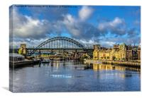 River Tyne Skyline, Canvas Print