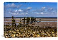 Groynes Spurn Point, Canvas Print