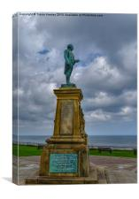 Captain Cook Memorial Whitby, Canvas Print