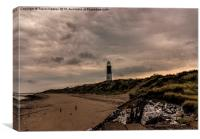 The Beach Spurn Point, Canvas Print
