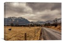 The Road to Ullswater, Canvas Print