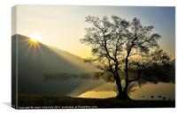 Golden Light At Ullswater, Canvas Print