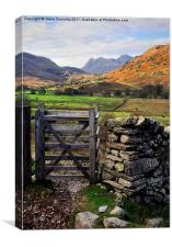 Gateway To The Langdales, Canvas Print