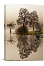 Reflections At Ullswater, Canvas Print